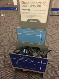 空港での大きさチェック